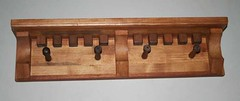 Shelf - Coat Rack with Dentils (Imagination Unincorporated) Tags: original pine african coat walnut shelf pegs mahogany coatrack fingerjoint corbels dentil customdesign