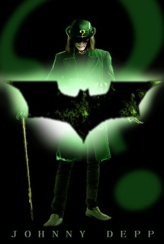 riddler poster. Johnny Depp playing the Riddler!