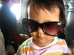 wearing mama's sunglasses