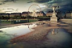 Jardin des Tuileries - Paris (Auré from Paris) Tags: street city sunset paris france color rain dark puddle louvre snapshot reflexion rivoli jardindestuileries foveon coolshot auré visiongroup francelandscapes theunforgettablepictures sigmadp1 vision100 goldenvisions