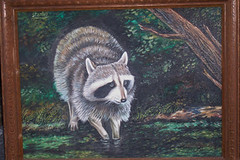 RaccoonPainting (galejeri) Tags: painting martin originalpainting raccoon pamela yardsale highway127