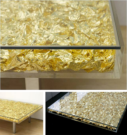 klein gold coffee table