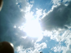 Sun, Clouds, Fingertips