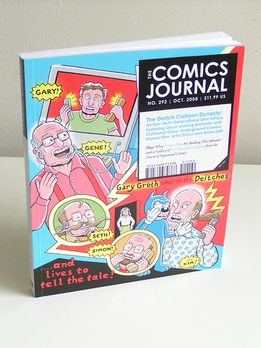 The Comics Journal #292 - cover by Kim Deitch