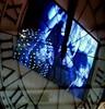 ticking away... (Scribbles With Cameras) Tags: blue reflection window picasa melbourne screen myer clockface haphazartblue scribbleclick christiandiordisplay haphazartindigo