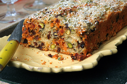 Pistachio and Chorizo Cake Recipe - David Lebovitz