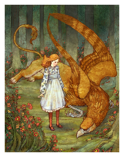 Alice and the Gryphon by bluefooted