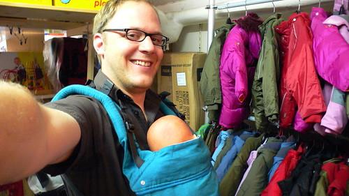 Mii mit Babytragedings