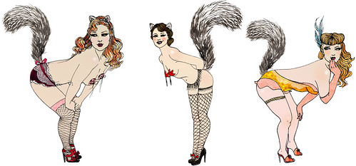 Shiny Squirrel: Burlesque girls