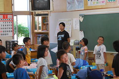 Japanese Pledge of Alliegiance in School (Mszczuj) Tags: japan japanese school pledge allegiance class classroom higher learning institution children schoolchildren student students okinawa tokyo education regimen achieve boy boys girl girls