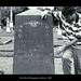 Scott Dorn at the Gravestone of Rebecca Ashton Stoddard 2003 Galveston Texas