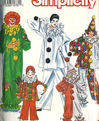 Pierrot Clown Costume Pattern