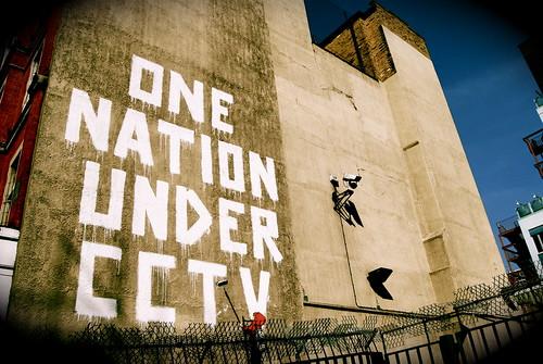 Banksy CCTV Wall Painting