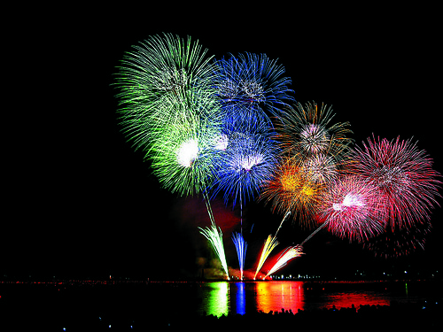 EpicFireworks.com - Beautifully Coloured Bursts