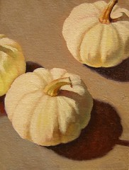 Miniature, White Pumpkins