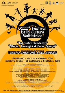 Festival Cultura Multietnica - Fabriano e Cerreto d'Esi - dal 26 settembre al 5 ottobre 2008