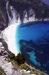 Myrtos Bay (Redmoondragon) Tags: sea vacation holiday beach seaside sand tourist greece kefalonia cephallonia kefallonia ionian myrtosbay captaincorellismandolin cefalonia cephallenia kefallinia interestingplace