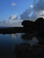 Tide pool reflecting the sky (akira ASKR) Tags: sea sky cloud reflection water surface okinawa tidepool ricoh r8 zenzabronicas2