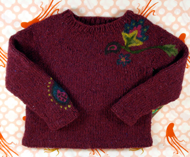 Basic Needle Felted Pullover from Alterknits Felt
