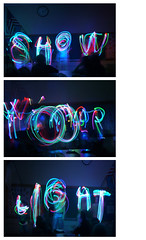 show your light (rt44man) Tags: longexposure light color kids night fun words shine classroom multicolored assembly shineon letyourlightshine beanexample showyourlight