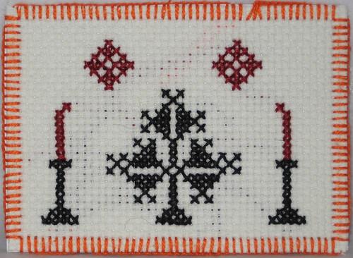 gothic crosstitch atc