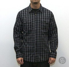 Twelve Bar Barret Plaid L/S - Black