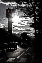 after work (wilsz.) Tags: road sun toronto clouds 50mm collegest redlight 1on1urbanphotooftheweek bwartaward streetlevelphoto 1on1urbanphotooftheweekoctober2008