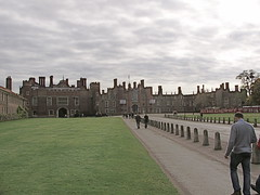 Entering Hampton Court