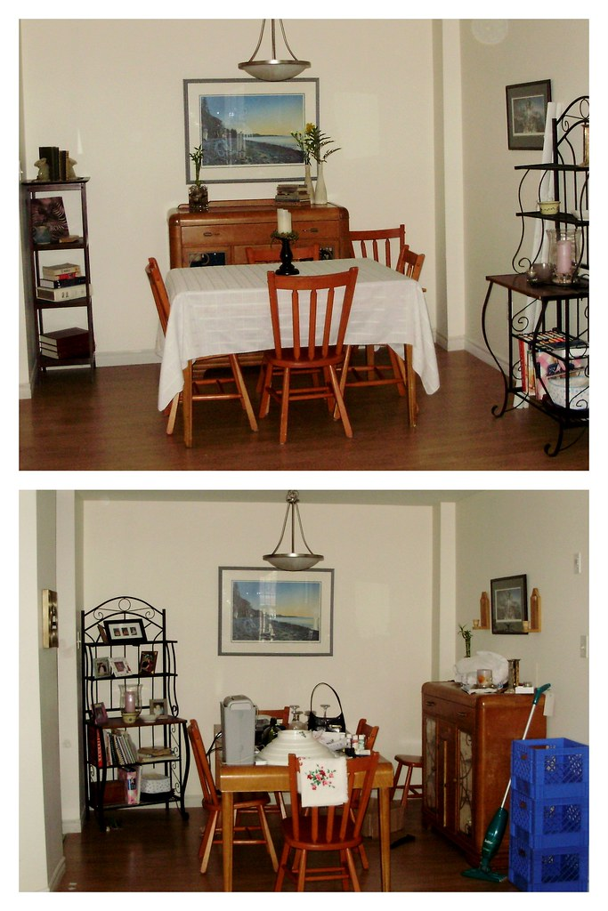 Dining Room - Before and After