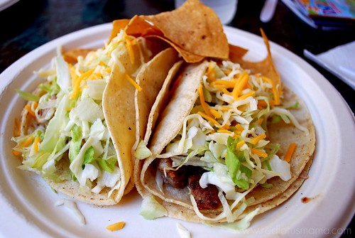 two fresh fish tacos