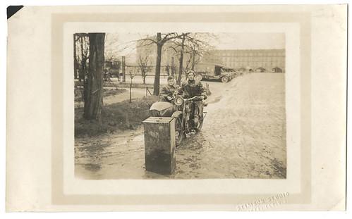 Motorcycle leaving hospital