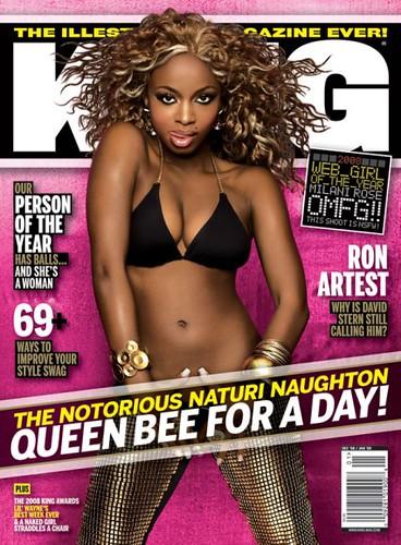 Naturi Naughton king magazine cover dec 08/ jan 09