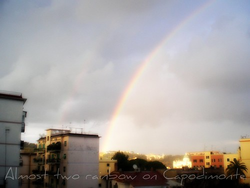 Almost two rainbow on Capodimonte