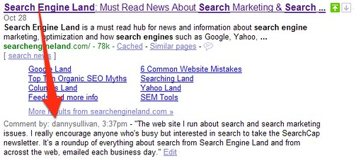SearchWiki Commenting