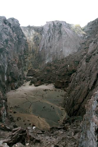 Der Krater vom Ausbruch 1930