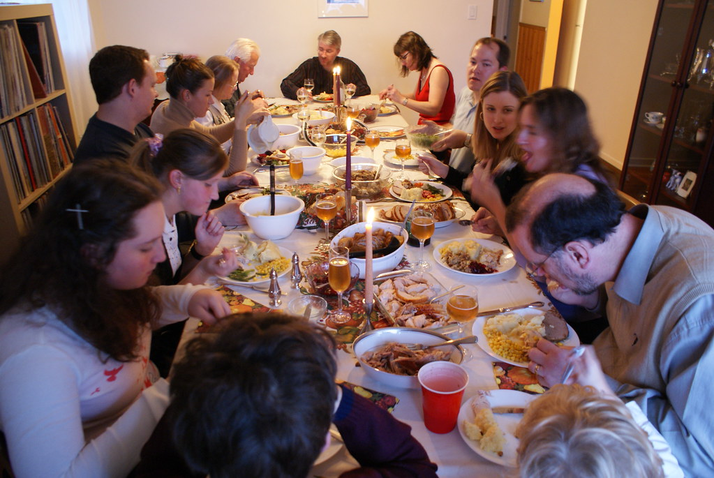 Long, Long Table - Thanksgiving 2008