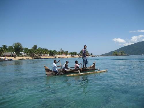 kids fishing Nosy Komba
