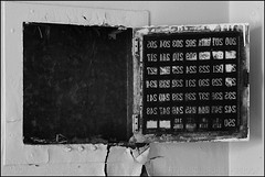 Switch Board (The Voice of Eye) Tags: abstract history archaeology vintage hospital photography stencil panel fineart arts culture documentary surreal maryland indoor signage symbolic mentalhealth offbeat greyscale insaneasylum antiquity orderly ellicottcity socialsciences actuality devastated culturalanthropology lifeasart ellicottcitymaryland craigmorse culturesubculture humanscience blackandwhiteblackandwhitebw blancoynegroblancoynegro thevoiceofeye neroebianconeroebianco noiretblancnoiretblanc pretoebrancopretoebranco schwarzesundweischwarzesundwei zwarteenwitzwarteenwit henrytonsanitarium