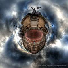 Planet New York :: El Cid (Sam Rohn - 360 Photography) Tags: nyc newyorkcity sky panorama newyork manhattan 360 planet polar hdr 360x180 elcid washingtonheights stereographic planetoid locationscout photomatix littleplanet nodalninja samrohn smallplanet stereographicprojection audobonterrace kunstplatzlinternational