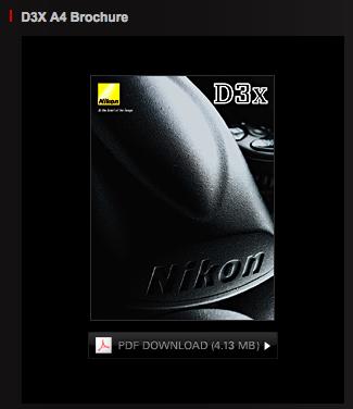 Nikon D3X brochure