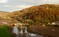 Kerne Bridge (flash of light) Tags: bridge november autumn england english river landscape geotagged evening valley herefordshire 2008 soe wye kerne supershot platinumphoto impressedbeauty flickrdiamond geo:lat=51869996 geo:lon=261032