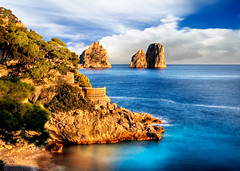 "Capri Between Rock and Sea n.5 ""Torre Saracena"" (Alessandro Scoppa) Tags: blue sea sky italy clouds island capri rocks italia nuvole mare waves campania blu explore cielo chapeau napoli naples 1001nights rocce soe onde isola scogli faraglioni blueribbonwinner digitalcameraclub topshots flickrsbest fineartphotos photographyrocks platinumphoto aplusphoto newacademy betterthangood goldstaraward photoexplore worldwidelandscapes natureselegantshots absolutelystunningscapes yourcountry damniwishidtakenthat photoshopcreativo flickrlovers naturescreations flickrclassique landscapeworldbeauties alessandroscoppa fineartprintscapri fineartprintsitaly"