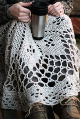 Blanket (namolio) Tags: wool cup cozy sheep tea handmade linen lace crochet wrap yarn blanket shaw doily throw