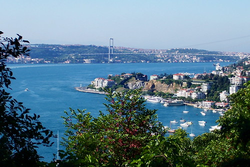View of the Bosphorus and Galata Bridge