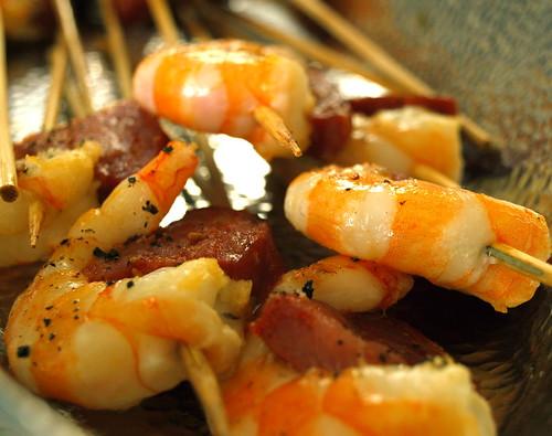 shrimp and chorizo
