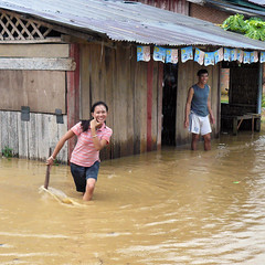 The joy of rain? (Bn) Tags: rain laos downpour rainyseason wetseason torrentialrain floodingstore afewhoursofhardrain