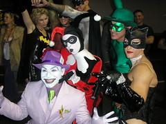 Harley Quinn, The joker, Cat woman, The riddler, Batman, Robin and Batgirl (harmonyboo) Tags: xmen superhero batman rogue dccomics gambit marvelcomics harleyquinn darkphoenix westhollywoodhalloween whiteranger sexysuperhero wehohalloween darkphoenixcostume harleyquinncostume superherobabes xmencostume dccomiccostumes