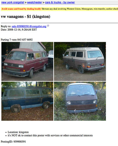 Vanagons For $1 Dollar