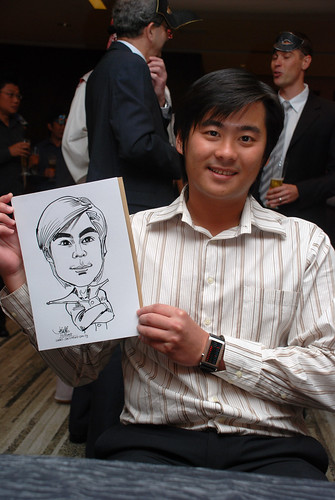 Caricature live sketching for Ezra Holdings 7