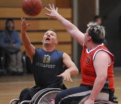 wheelchair basketball (jenson7) Tags: basketball sport nikon action wheelchair budapest d200 wheelchairbasketball 80200mmf28 slidr parasport paralympicsport